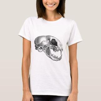 Polished Silver Felis (Cat) Skull T-Shirt