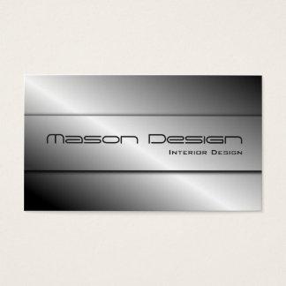 Polished Silver Modern Design Business Card