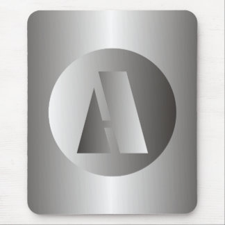 "Polished Steel ""A"" Mouse Pad"