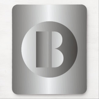 "Polished Steel ""B"" Mouse Pad"