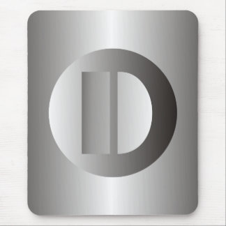 "Polished Steel ""D"" Mouse Pad"