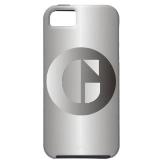 """Polished Steel """"G"""" iPhone 5 Cases"""
