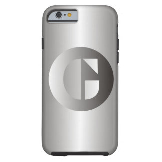"""Polished Steel """"G"""" Tough iPhone 6 Case"""