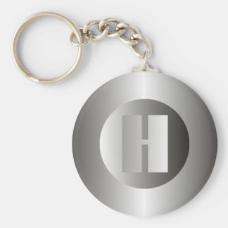 "Polished Steel ""H"" Keychain"