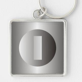 "Polished Steel ""I"" Keychain"