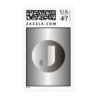 "Polished Steel ""J"" Postage"