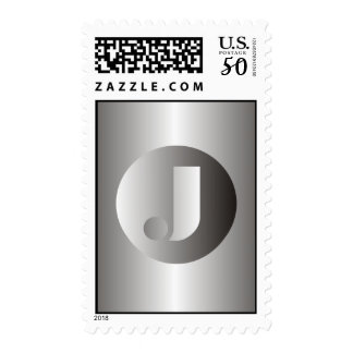 "Polished Steel ""J"" Postage"