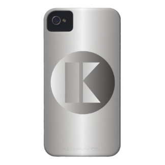 "Polished Steel ""K"" Case-Mate iPhone 4 Case"