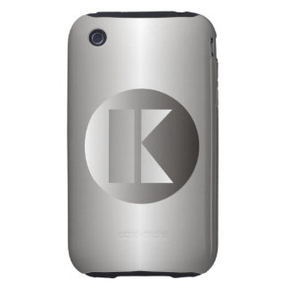 "Polished Steel ""K"" iPhone 3 Tough Case"