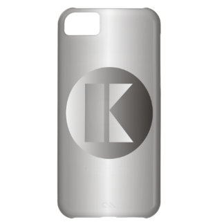 "Polished Steel ""K"" iPhone 5C Cover"