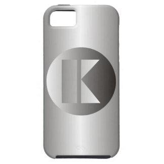 """Polished Steel """"K"""" iPhone SE/5/5s Case"""