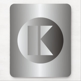 "Polished Steel ""K"" Mouse Pad"