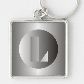 "Polished Steel ""L"" Keychain"