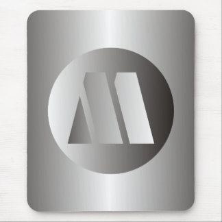 "Polished Steel ""M"" Mouse Pad"
