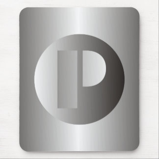 "Polished Steel ""P"" Mouse Pad"