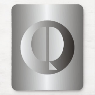 "Polished Steel ""Q"" Mouse Pad"
