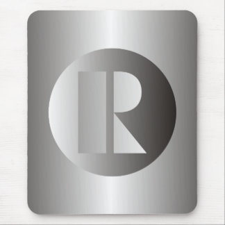 "Polished Steel ""R"" Mouse Pad"