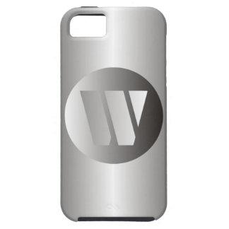 "Polished Steel ""W"" iPhone SE/5/5s Case"
