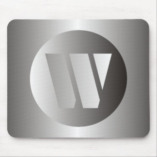 "Polished Steel ""W"" Mouse Pad"