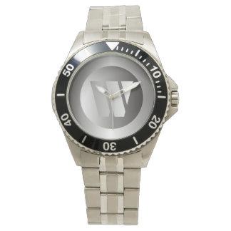 """Polished Steel """"W"""" Wrist Watches"""
