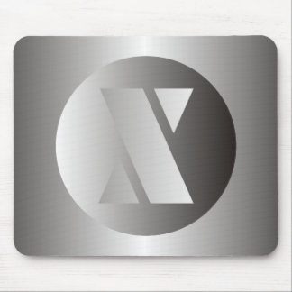 "Polished Steel ""X"" Mouse Pad"