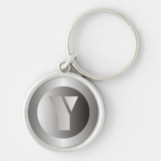 """Polished Steel """"Y"""" Keychain"""
