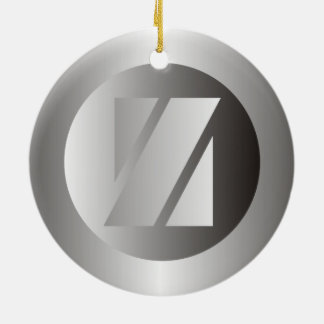 "Polished Steel ""Z"" Ceramic Ornament"