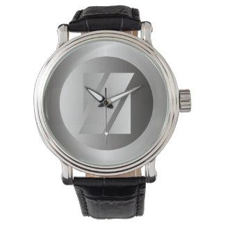 """Polished Steel """"Z"""" Wristwatch"""