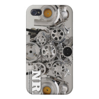 Polished Twin Turbo Engine iPhone 4/4S Covers