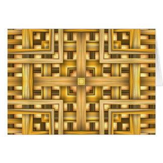 Polished Wood Basket Card