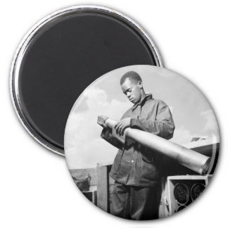 Polishing My Projectile, 1940s 2 Inch Round Magnet
