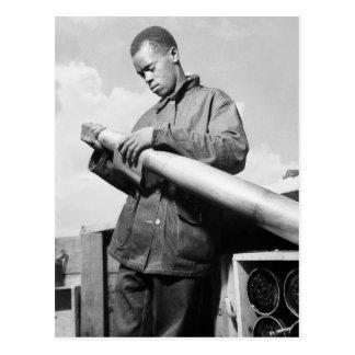 Polishing My Projectile 1940s Postcards