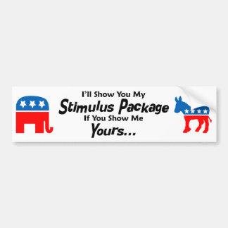 Politcal Bumper Sticker - Stimulus Package