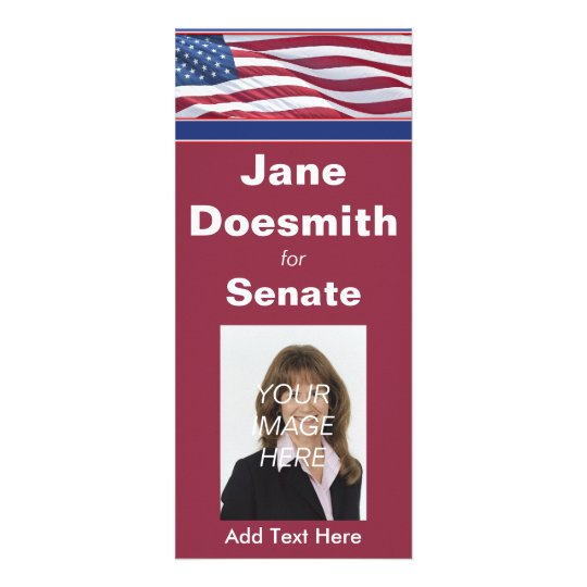 Politcal Election Campaign Rack Card Template