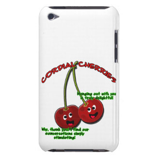 Polite Cordial Cherries Cartoon on Stems Barely There iPod Case