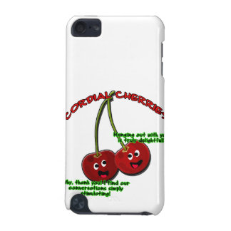 Polite Cordial Cherries Cartoon on Stems iPod Touch 5G Cases
