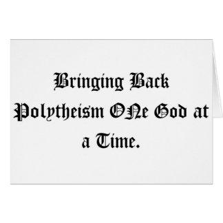 politeísmo tarjeta de felicitación