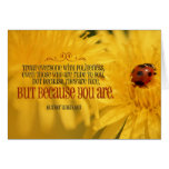 Politeness inspirational greeting note card
