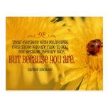 Politeness inspirational post card