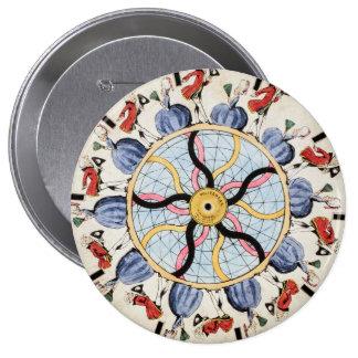 Politeness, phenakistascope by Thos. McLean, Londo Pinback Buttons
