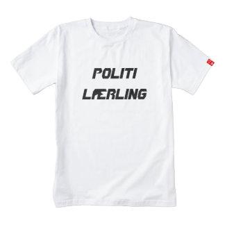 Politi Lærling, police Trainee in Norwegian Zazzle HEART T-Shirt