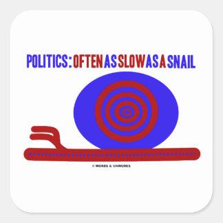 Política: A menudo tan lento como un caracol Colcomanias Cuadradass