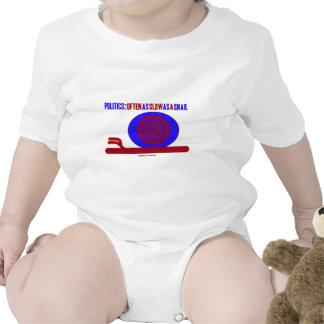 Política: A menudo tan lento como un caracol Trajes De Bebé