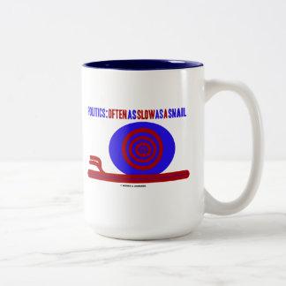 Política: A menudo tan lento como un caracol Tazas De Café