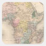 Política africana pegatina cuadrada