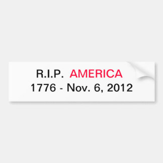 Política anti del americano de América del bumpers Pegatina Para Auto