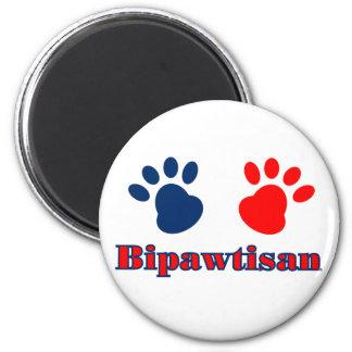 Política de Bipawtisan Imán Redondo 5 Cm