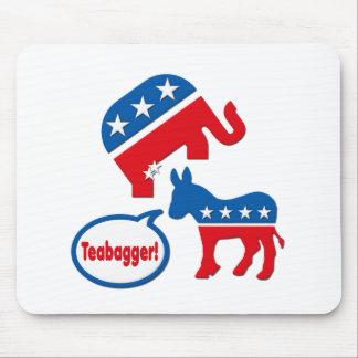 Política de fiesta del té republicana de Teabagger Alfombrilla De Ratón