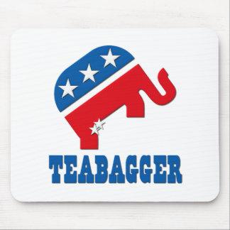 Política de fiesta del té republicana de Teabagger Mouse Pads