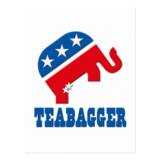Política de fiesta del té republicana de Teabagger Tarjetas Postales